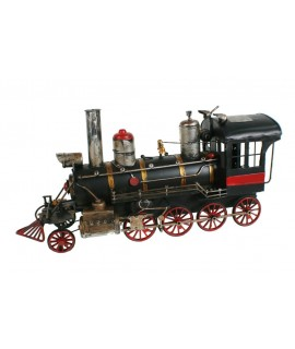 Locomotora de vapor  decoración de metal