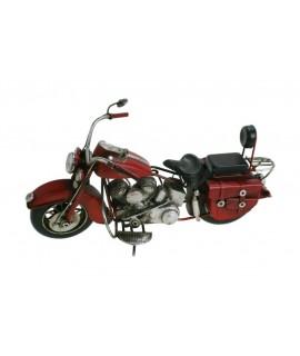 Moto decoración metal en rojo