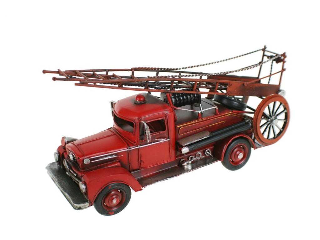 Camión bomberos antiguo rojo