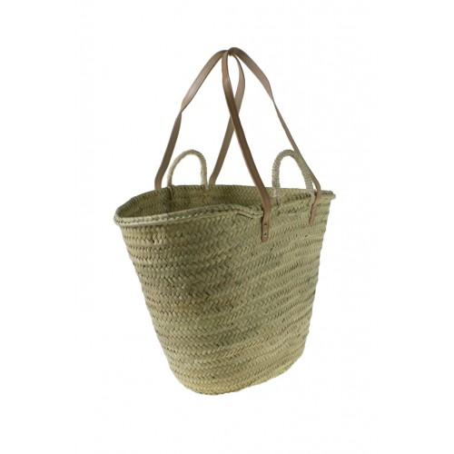 Capazo cesta mallorquina de fibra de anea para la playa