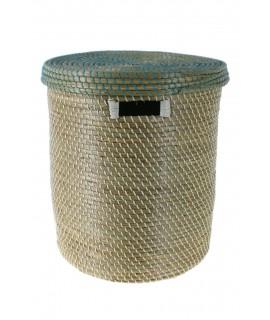Cistella gran de fibres naturals