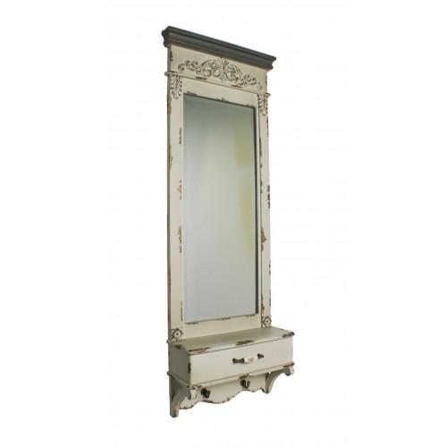 Comprar online espejo vertical de pared estilo vintage con for Espejo pared marco blanco
