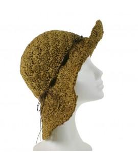 Sombrero de verano de rafia color marrón