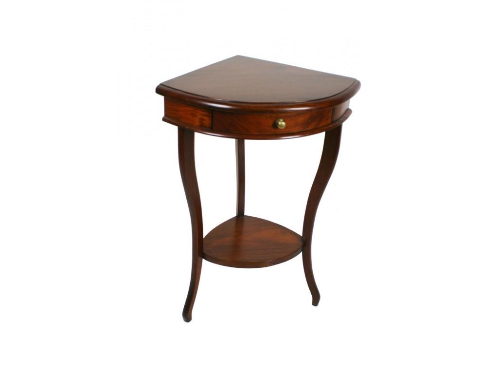 Consola petita en fusta massissa per cantonada estil clàssic