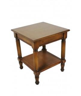 Table d'appoint colorée Robre avec étagère de style classique