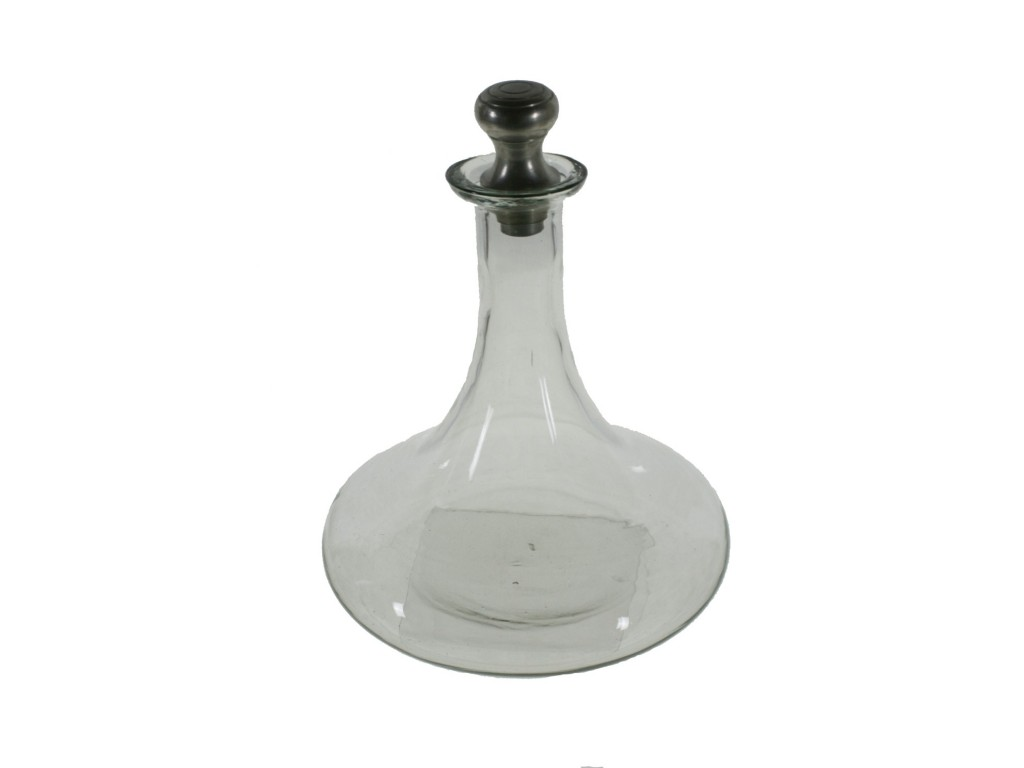Ampolla de vidre clàssica per a vi i licor
