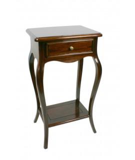 Table d'appoint et tiroir central en bois d'acajou Isabelina