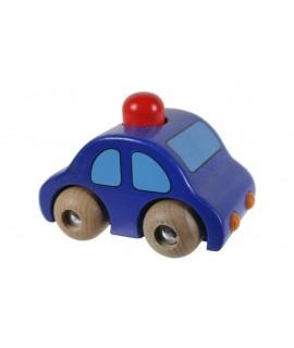 Cotxe fusta blau amb clàxon