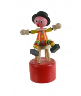 Clown en bois pour resserrer et bouger.