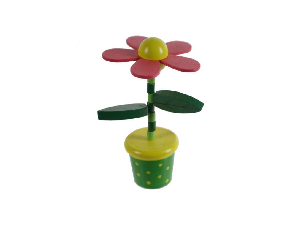 Flor de madera para apretar y obtener movimiento.