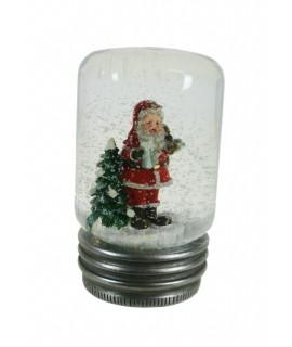 Bola de nieve con Papa Noel