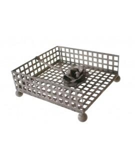 Servilletero de mesa para servilletas individuales color gris