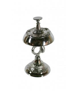 Sonnette d'hôtel de décoration de table en métal de style rococo