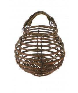 Dispensador cesta huevera de mimbre estilo rustico
