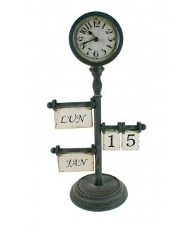 Reloj sobremesa con calendario perpetuo estilo retro decoracion hogar