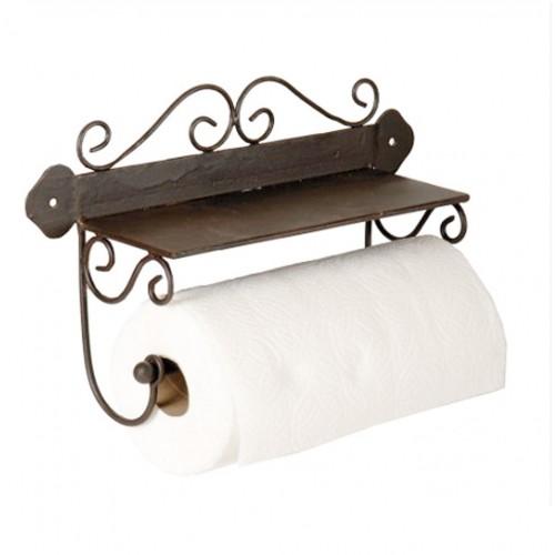 Porta-rotlles de paper cuina de paret en metàl·lic estil rústic
