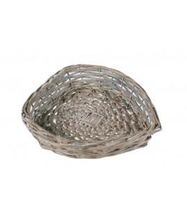 Corbeille à pain en osier rustique en forme de coeur