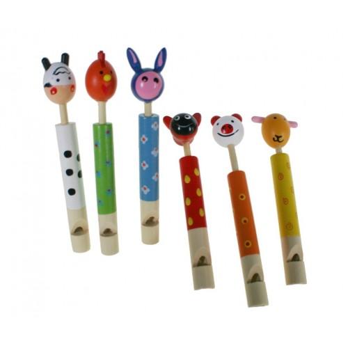 Flauta infantil musical cabeza animal