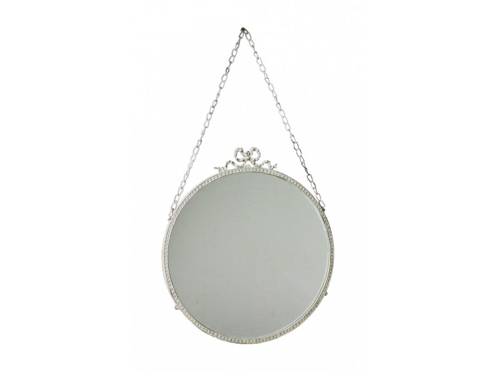 Espejo redondo para colgar con cadena decoración estilo nórdico