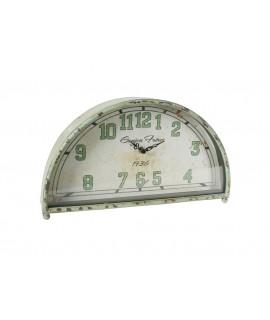 Reloj sobremesa color verde vintage números grandes forma medialuna