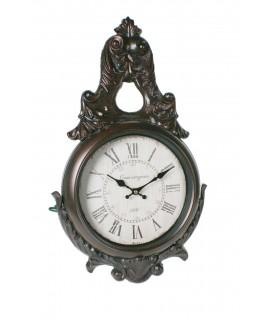 Reloj pared metal y hierro numero romanos decoración hogar vintage