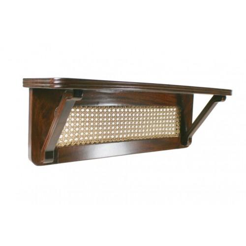 Ménsula de madera de caoba con decoración de rejilla
