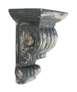Mènsula de fusta tallada estil antic vintage