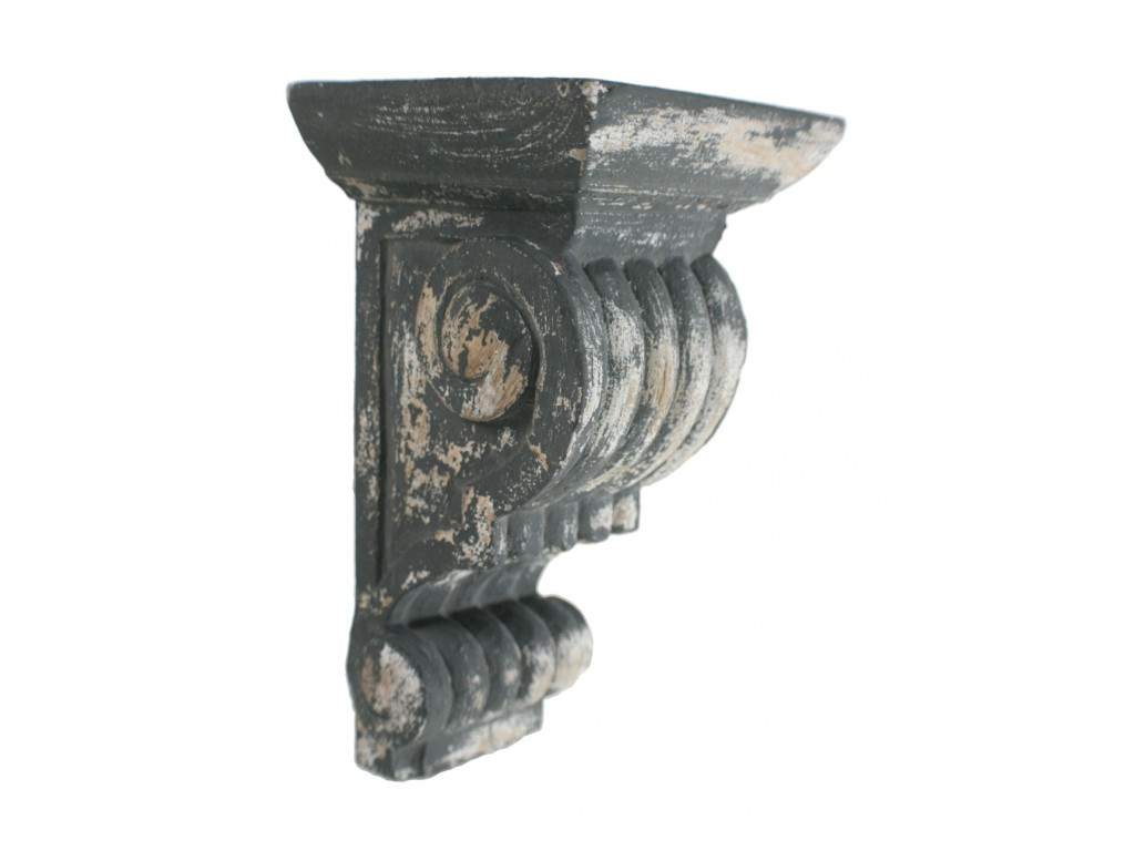 Ménsula de madera tallada estilo antiguo vintage