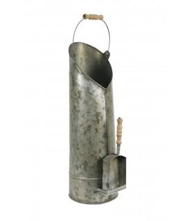 Recogedor de ceniza con pala para chimenea. Medidas: 54x17x14 cm.
