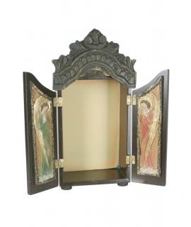 Chapelle de table en bois avec portes