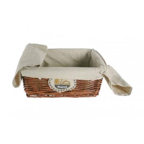 sombre pain panier en osier avec doublure en tissu pour le pain. Black Bedroom Furniture Sets. Home Design Ideas