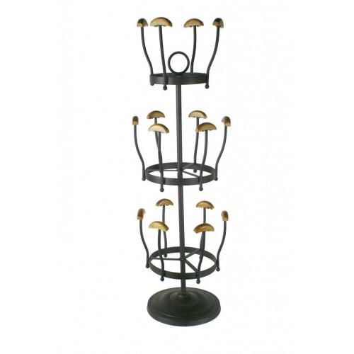 Comprar online zapatero vertical de metal y madera para 8 for Zapatero para 30 pares de zapatos