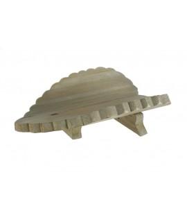 Centre de taula fulla de fusta forma cor