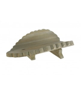 Centro de mesa hoja de madera forma corazón