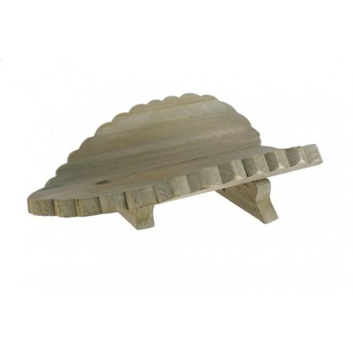 Feuille centre table en bois en forme de coeur