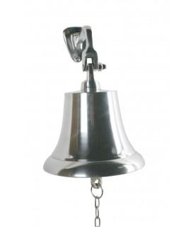 Campana de bronce plateada Ø17 cm. alta sonoridad