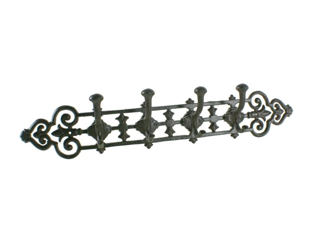 Comprar online colgador pared de hierro colado de 4 ganchos for Ganchos para pared