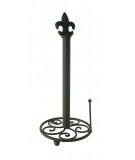 Porta rotllos per a paper de cuina metàl·lic color bronze. Mesures: 40xØ18 cm.