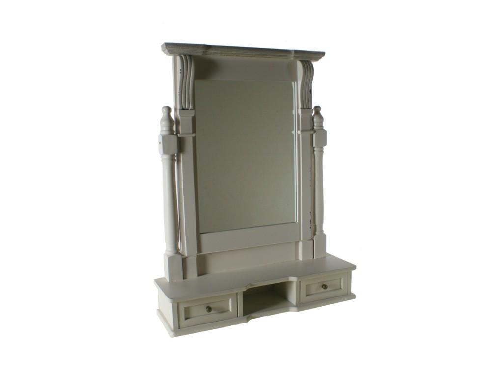 Comprar online espejo para tocador de madera estilo vintage for Espejo tocador ikea