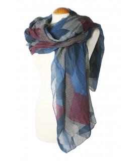 Foulard estampat multicolor. Mesures: 180x90 cm.