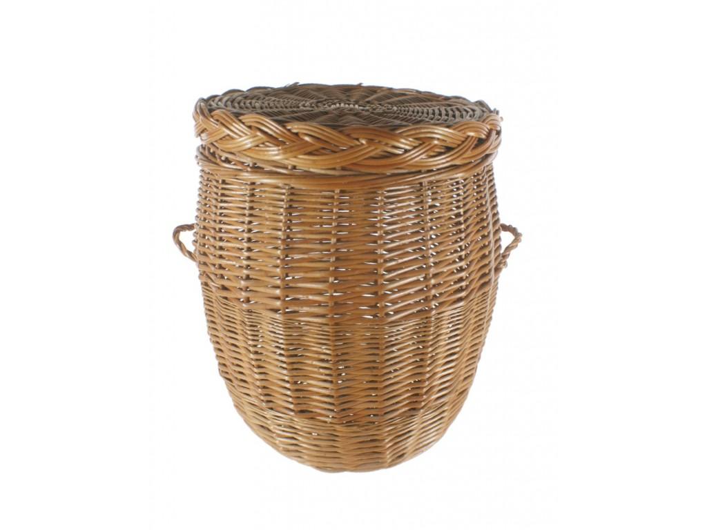 Achetez des paniers pour les v tements et les placards ronds en osier en ligne - Panier en osier avec couvercle ...
