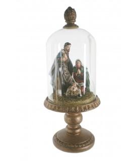 Bethléhem dans une urne en verre. Mesures: 36x14 cm.