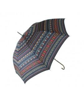 Paraigües de Senyora estampat en flors multicolor. Mesures: 84xØ97 cm.
