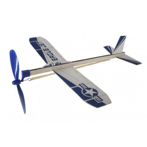 12a438dd2f Avión planeador de madera con hélice a cuerda. Medidas  30x30 cm.