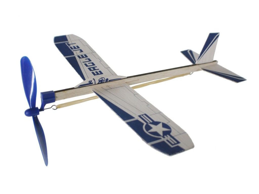 Comprar online avión planeador de cuerda con hélice.