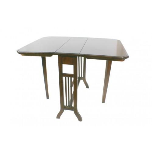 Table d'appoint basse pliante en bois d'acajou