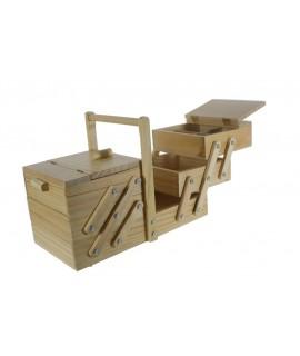 Les grands bois départements de couture de couleur naturelle extensible. Pliage dimensions: 30x23x40 cm.
