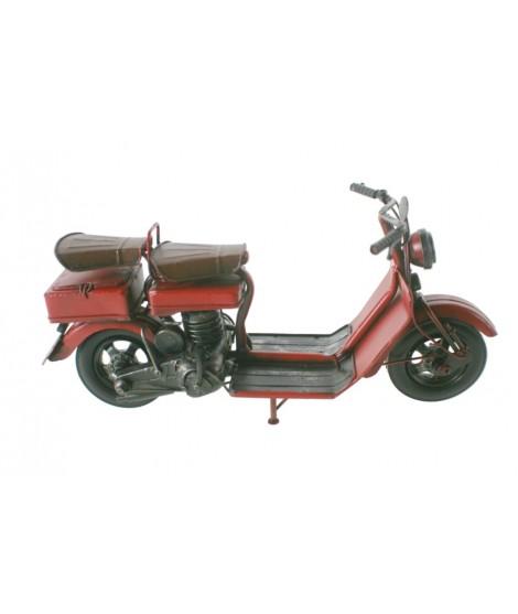 Moto decoración retro de metal color rojo. Medidas: 15x30x10 cm.