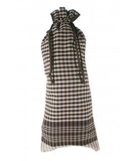 Bossa per baguet en tela de farcell, 100% cotó. Mesures: 65x22 cm.