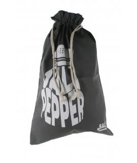 Bolsa para el para en tela estampada color gris. Medidas: 57x37 cm.